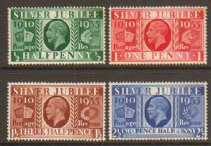 SG453-456 1935 Silver Jubilee Type I Set of 4